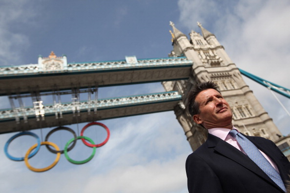 Sebastian Coe, pictured at the unveiling of the Olympic Rings on Tower Bridge before the London 2012 Games, will be specially invited to witness the millionth finisher at this year's Great North Run on September 7 ©Getty Images