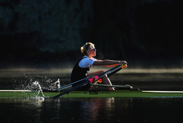 New Zealand's Emma Twigg improved her hopes of winning a global title in the single sculls with victory at Lake Aiguebelette in the World Cup race ©Getty Images