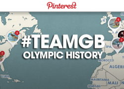 The British Olympic Association have launched an interactive map on Pinterestwhich looks at its Olympic history ©BOA