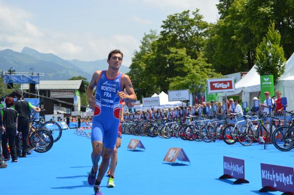 Raphael Montoya of France runs clear to take the European junior triathlon gold, having taken silver a year ago ©Getty Images