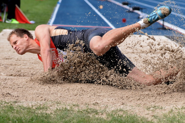 Christian Reif's long jump victory over Britain's Olympic long jump champion Greg Rutherford was another key factor in giving the home nation an overnight lead ©Getty Images