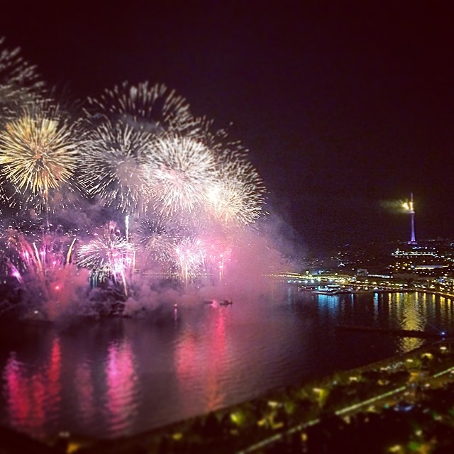 Baku 2015 fireworks 1