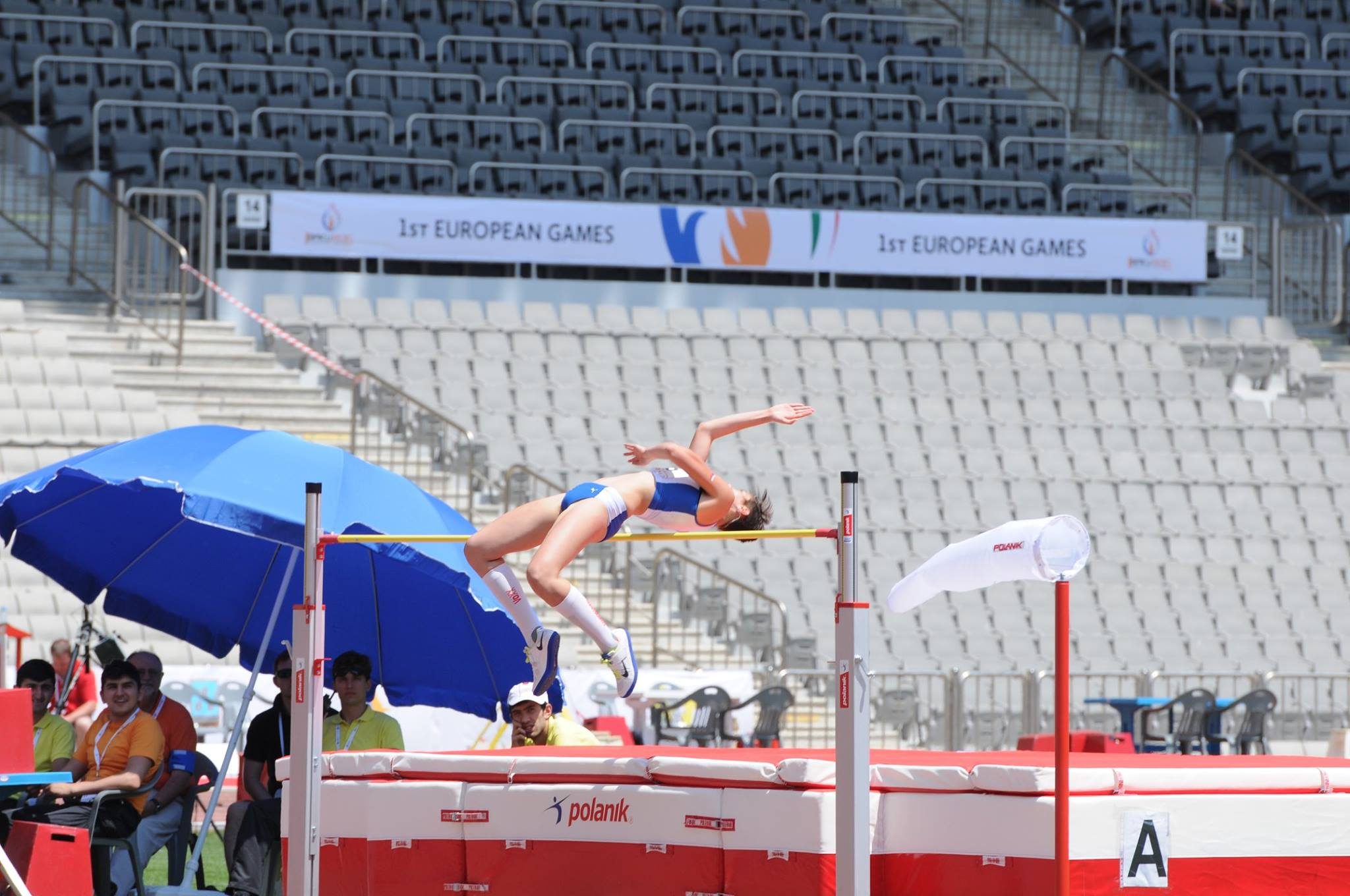 There was a high standard of competition in events during the European Youth Olympic Trials in Baku, including the women's high jump ©Baku 2015