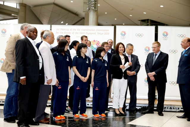 IOC Coordination Commission John Coates and his colleagues have visited several of the proposed sites during their visit to Tokyo, including the Big Sight which is due to host fencing, taekwondo and wrestling during the 2020 Olympics ©ShugoTakemi/Tokyo 2020