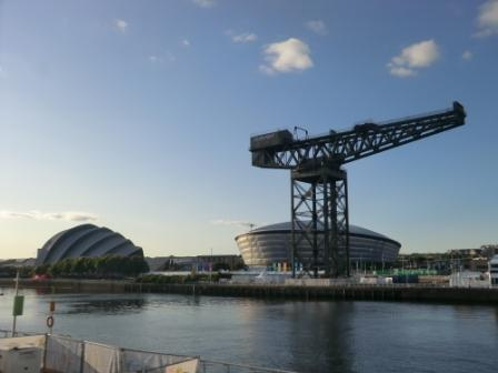 A crane on the banks of the Clyde ©Philip Barker