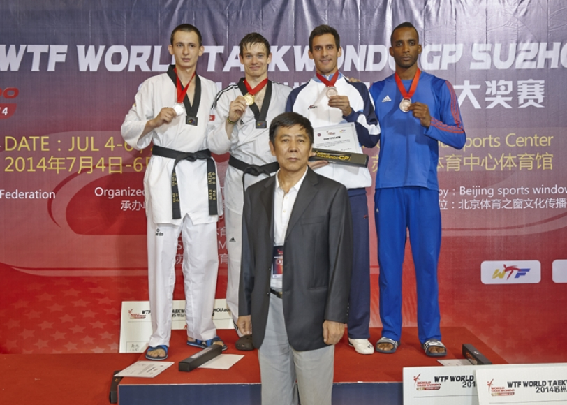 Aaron Cook was in superb form in winning the under 80kg category in Suzhou ©WTF