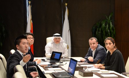 Bahrain Olympic Committee general secretary Abdulrahman Askar at the meeting with Incheon 2014 Asian Games rate card officials ©BOC