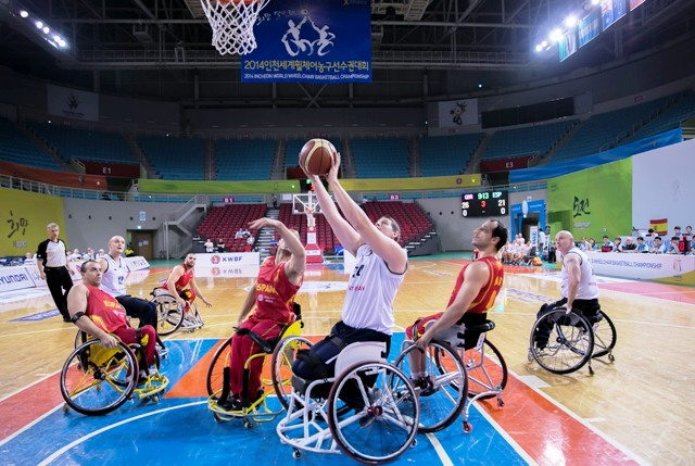 Action at the World Wheelchair Basketball Championships continued in Incheon today ©SA Images