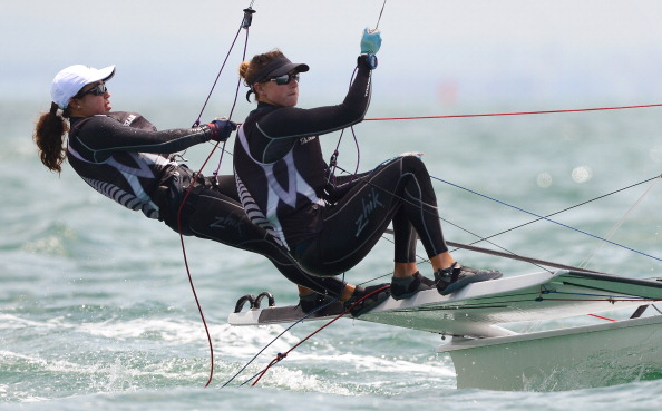 Alex Maloney and Molly Meech have become the latest to slam the Guanabara Bay course ©AFP/Getty Images