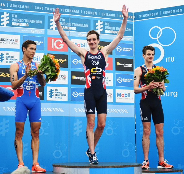 Alistair Brownlee has claimed his first victory of 2014 in Hamburg ©Getty Images