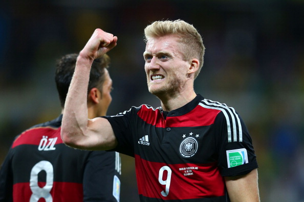 Andre Schuerrle celebrates scoring his team's seventh goal, which completed a thrashing of Brazil ©Getty Images