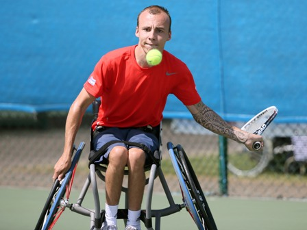 Andy Lapthorne will get plenty of support from the British crowd in tomorrow's semi-final ©Tennis Foundation