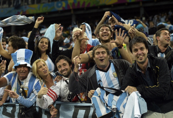 Argentina fans celebrating after their team defeated The Netherlands on penalties ©AFP/Getty Images