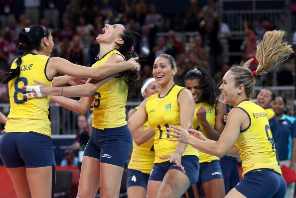 Brazil's women's volleyball team won gold at London 2012 ©Getty Images