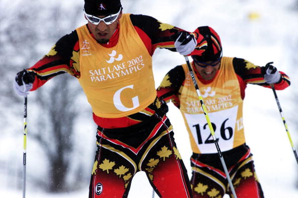 Brian McKeever en route to gold at his first Paralympic Games in Salt Lake City in 2002 ©Getty Images