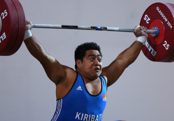 David Katoatau won Kiribati's first ever Commonwealth Games gold medal with victory in the 105kg weightlifting class ©Getty Images