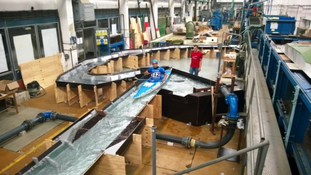 Designers at the Czech Technical University in Prague are working on the white water canoe slalom course for the Rio 2016 Olympic Games ©Czech Olympic Committee