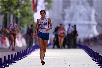 Elena Lashmanova is one of a number of Russian walkers to be banned for drugs violations in recent years ©Getty Images