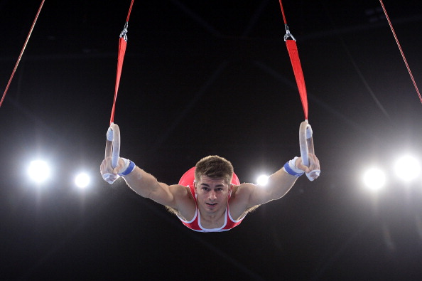 England's Max Whitlock won the artistic gymnastics men's all-around competition in fine fashion ©AFP/Getty Images