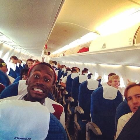 England's athletics squad are flying to Glasgow ©Will Smith/Twitter