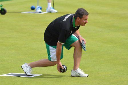 Experienced Douw Calitz and his partner Will Esterhuizen are leading the Namibian charge in lawn bowls ©Proactive