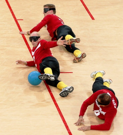 Former goalball player Johan De Rick (centre) is part of the Rio 2016 Selection Committee for Belgium ©Getty Images