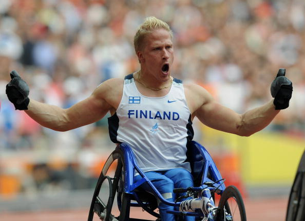 Four-time Paralympic champion Leo-Pekka Tahti is in confident mood ahead of competing in Swansea ©AFP/Getty Images