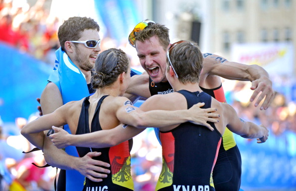 Germany will seek a defence of the mixed triathlon relay title they won in 2013 ©Getty Images