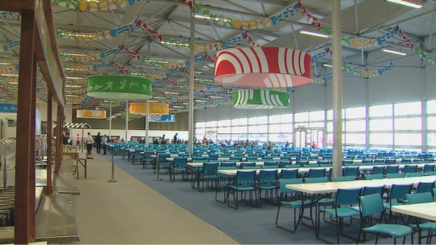 More than 2,000 athletes can be accommodated at any one time in the massive dining hall at the Commonwealth Games Village ©Glasgow 2014