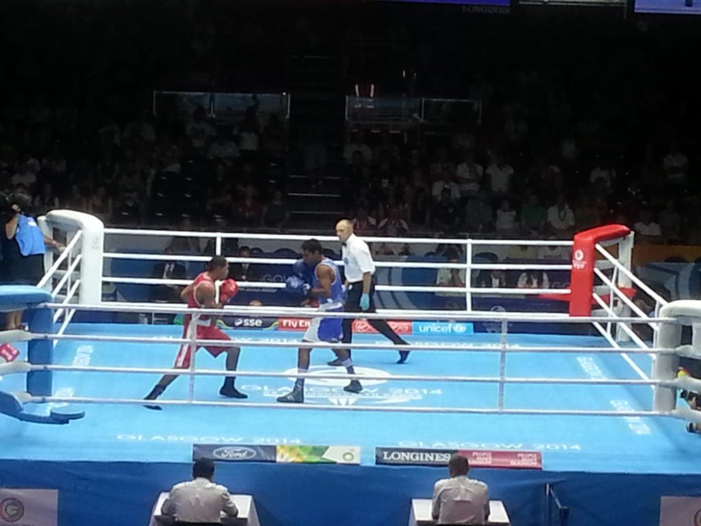 Action continues in the boxing