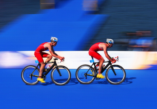 Alastair and Jonathan Brownlee lead the way ©Getty Images