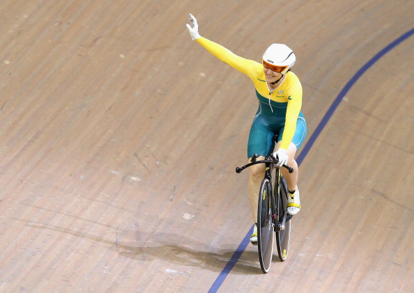 Anna Meares helped Australia to a great opening day in the track cyclign with gold in the womens 500m time trial ©Getty Images