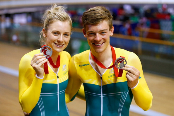 Brother and sister duo Alex and Annette Edmondson take silver on the track today ©Getty Images