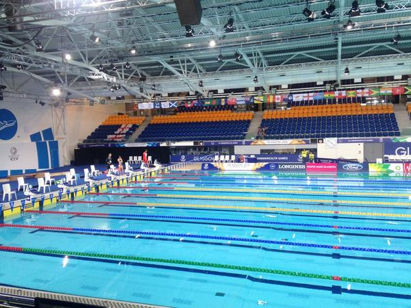 Calm before the storm at the Tollcross International Swimming Centre ©Twitter