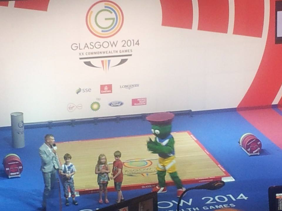 Clyde the Mascot showing off some celebratory dance moves ©ITG