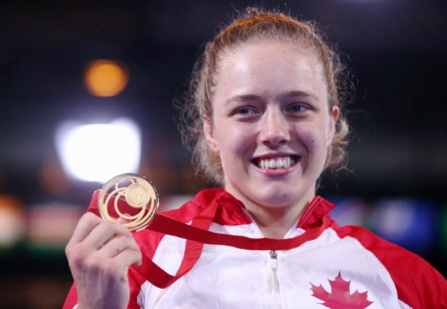 Dori Yeats helped Canada to a golden day on the mat at the SECC ©Getty Images