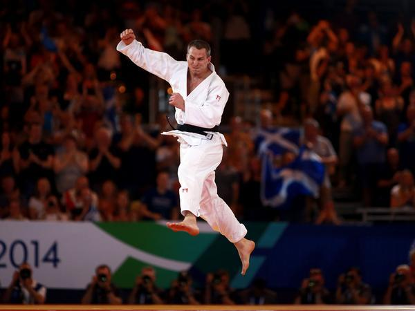 Euan Burton celebrates his win in judo ©Twitter