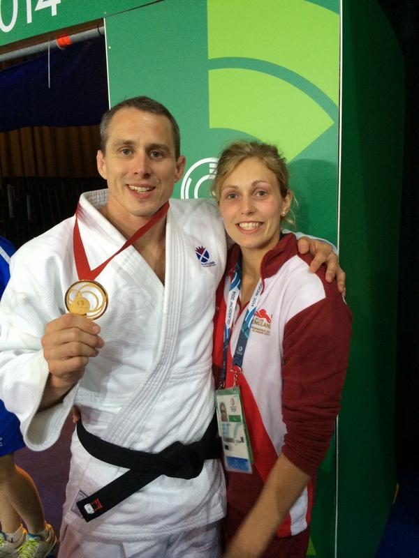 Gemma Gibbons and Euan Burton following their medal winning exploits today ©Twitter