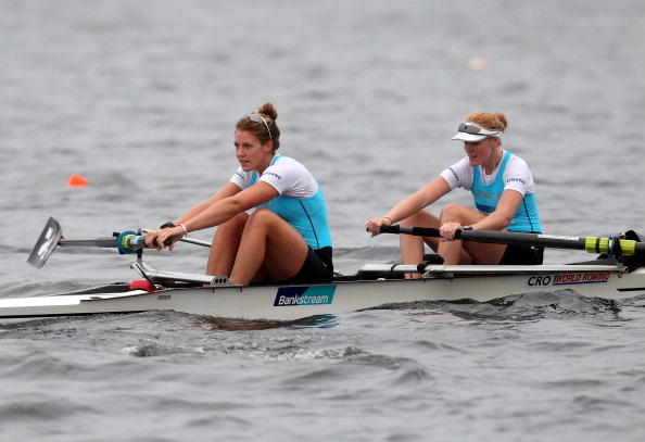 Grace Prendergast and Kerri Gowler claimed gold for New Zealand in the women's pair at the 2014 World Rowing Under 23 Championships ©Getty Images
