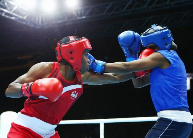 Headguards are still a requirement in elite women's boxing which is making its Commonwealth Games debut in Glasgow ©Getty Images