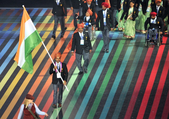 It seems a while ago now that Indian shooter Vijay Kumar began the Parade ©AFP/Getty Images