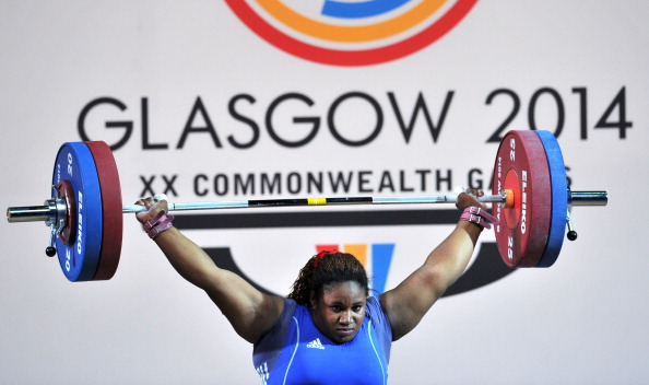 Maryam Usman wins gold in the heavyweight weightlifting for Nigeria ©Getty Images