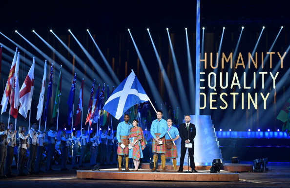 The reading of the Athletes' Oath at the Opening Ceremony ©AFP/Getty Images