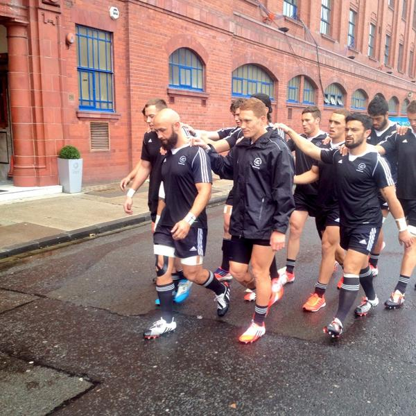 New Zealand make their way to the Ibrox for tonight's finals ©Twitter