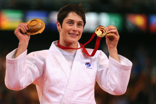 Sarah Clark won gold for Scotland in the under 63kg category ©Getty Images