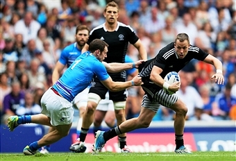 Scotland and New Zealand played out a thriller at Ibrox Stadium today in the Commonwealth Games ©Getty Images
