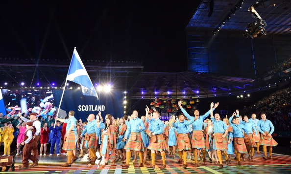 Scotland parade at the Opening Ceremony ©Getty Images