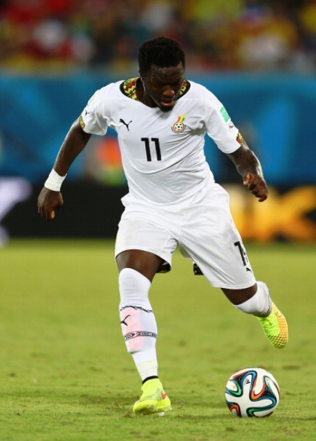 Sulley Muntari was suspended by the GFA after they claim he physically attacked one of their officials during the 2014 FIFA World Cup ©Getty Images