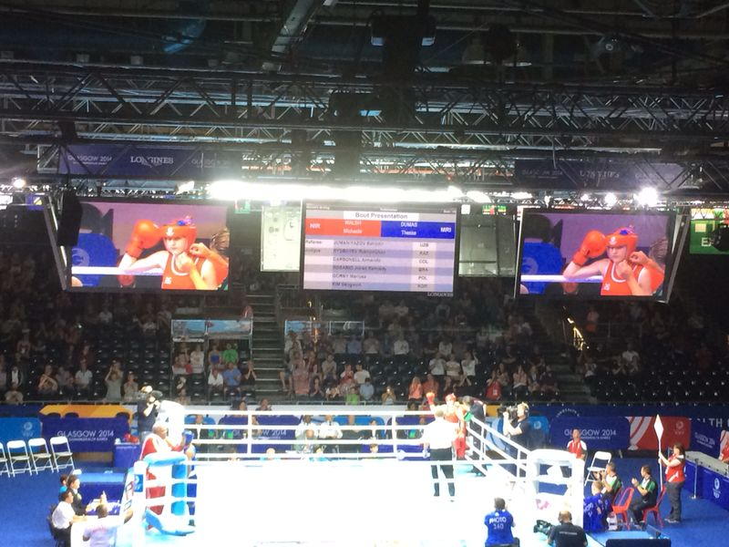 The first Commonwealth Games boxing bout ©ITG