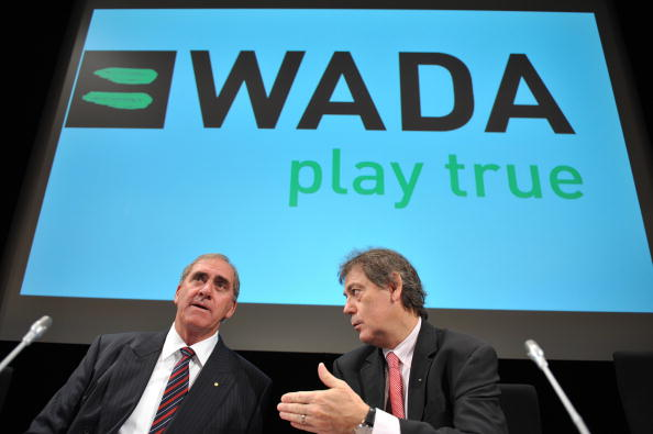 """The information about the """"false positive cases"""" was included in a report by WADA director general David Howman (right) ©AFP/Getty Images"""